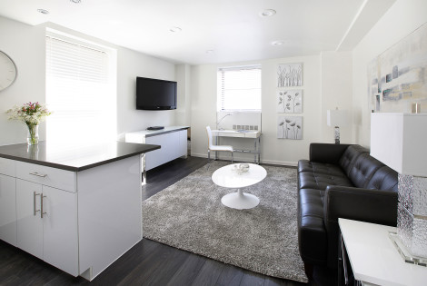 Corporate Housing Living Room - Executive Plaza NYC