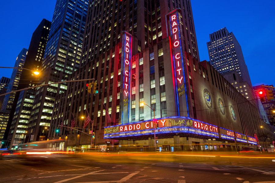Radio City Music Hall at Rockefeller Center - Executive Plaza NYC